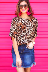 Lauren Leopard Hi-Low Tunic Top