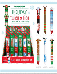Holiday Twice As Nice Click Pens  - Choice of Design