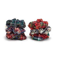 Plaid Hair Scrunchie - Choice of Color