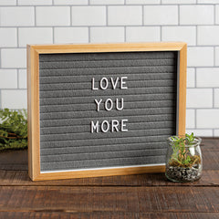 Natural Gray Letter Board by PBK