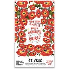 'What a Wonderful World' Sticker by PBK