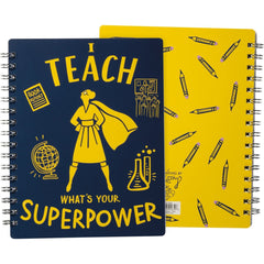 'I Teach What's Your Super Power' Spiral Notebook by PBK