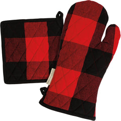 Red & Black Buffalo Check Pot Holder Set