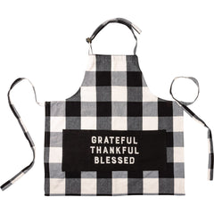 'Grateful Thankful Blessed' Apron by PBK