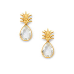 Pineapple Earrings by Julie Vos - Clear Crystal