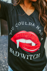 'Coulda Had A Bad Witch' V-Neck Graphic Tee