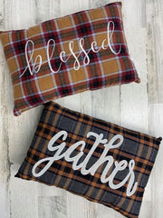 Fall Plaid Throw Pillows - Choice of Style