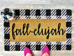 Fall-elujah Buffalo Check Coir Doormat