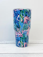 Stainless Steel Tumbler by Lilly Pulitzer - Bringing Mermaid Back