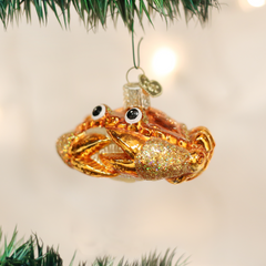 Glass Blown Ornaments - Crab Louie