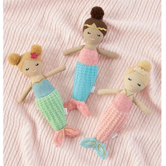 Mermaid' Plush Rattle by Mud Pie