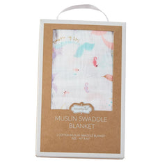 'Mermaid' Muslin Swaddle Blanket by Mud Pie