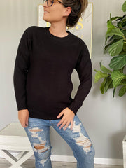 Trina Basic Sweater - Black