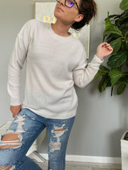 Trina Basic Sweater - Bone