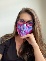 Adult Face Covering by Simply Southern - Pink Tie Dye