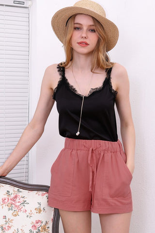Pink Utility Shorts Womens