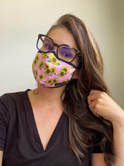 Adult Face Covering by Simply Southern - Pink Sunflower