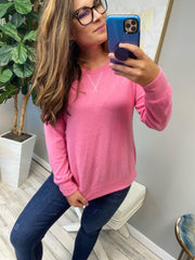 Sadie's Simple Sweater in Pink (Ships in 1-2 Weeks)