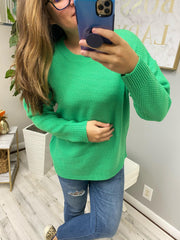 Trina Basic Sweater - Green