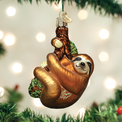 Glass Blown Ornaments - Sloth