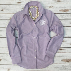 Monogram Button Down Oxford