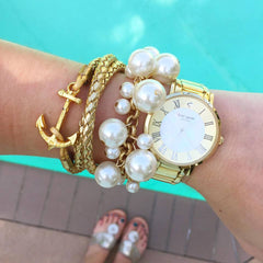 Molly Pearl Bauble Bracelet