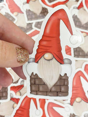 Chimney Gnome Vinyl Sticker