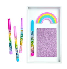 Rainbow Glitter Wand Ballpoint Pens - Choice of Style