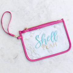 Shell Yeah Clear Wristlet