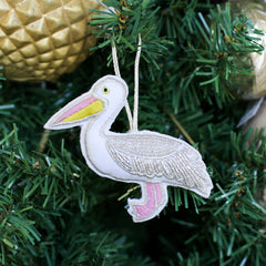 Pelican Beaded Ornament