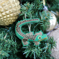 Gator Beaded Ornament