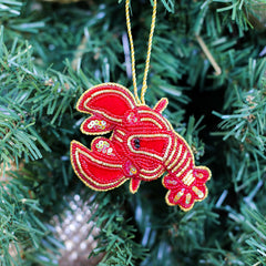Lobster Beaded Ornament