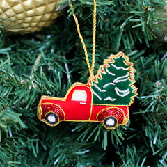 Pine Farms Beaded Ornament
