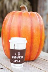 'I Love Pumpkin Spice' Signature Foam Coffee Sleeve
