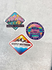 Sticker Set by Simply Southern - Mountain