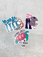 Sticker Set by Simply Southern - Nurse