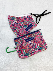 Printed Face Mask and Pouch by Simply Southern - Purple Paisley