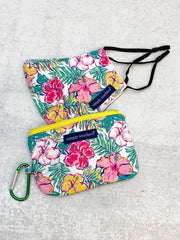 Printed Face Mask and Pouch by Simply Southern - Hibiscus