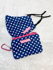 Printed Face Mask and Pouch by Simply Southern - Stars