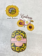 Sticker Set by Simply Southern - Sunflowers