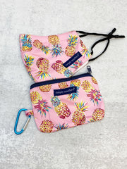 Printed Face Mask and Pouch by Simply Southern - Pineapple