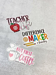 Sticker Set by Simply Southern - Teacher