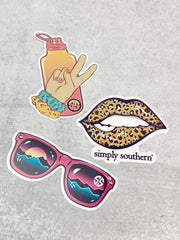 Sticker Set by Simply Southern - Vibes