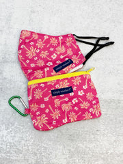 Printed Face Mask and Pouch by Simply Southern - Palm Trees