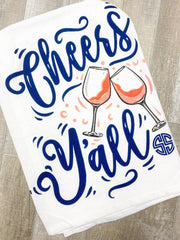 'Cheers Y'all' Printed Dish Towel by Simply Southern