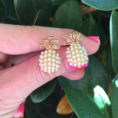 Pineapple Pearl Pop Studs