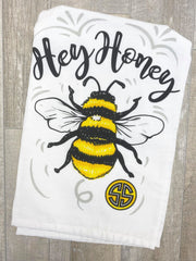 'Hey Honey' Bee Printed Dish Towel by Simply Southern