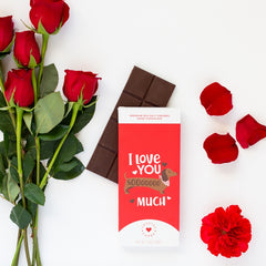 I Love You SoOoO Much Valentine's Day Chocolate Card