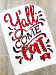 'Y'all Come Eat' Printed Dish Towel by Simply Southern