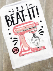 'Just Beat It' Printed Dish Towel by Simply Southern